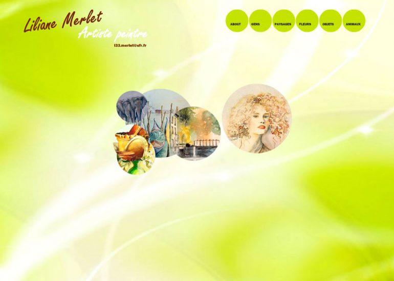 Liliane Aquarelle - Création site internet - Côte d'Azur