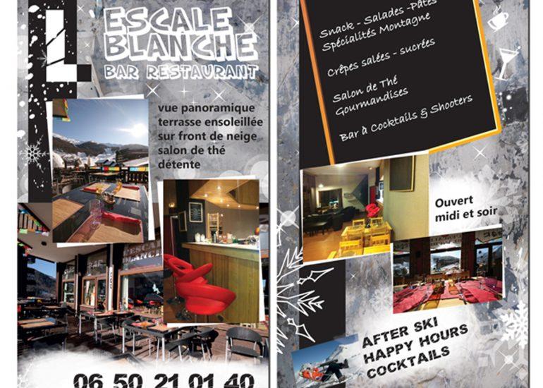 Print Flyer Nice Alpes Maritimes - Hôtel L'escale Blanche Les Orres