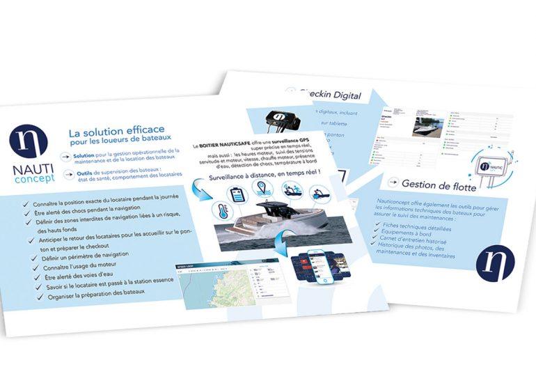 Réalisation de plaquettes et brochures - Nauticoncept