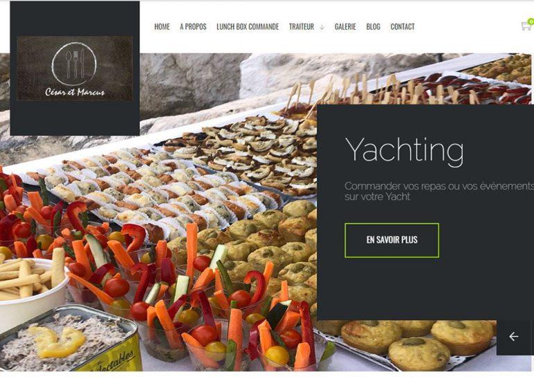 Création de site internet. Boutique en ligne César et Marcus